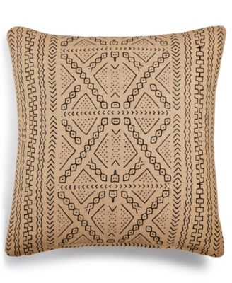"""LAST ACT! Mora Geo-Print 20"""" Square Decorative Pillow, Created for Macy's"""