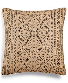 "LAST ACT! Lacourte Mora Geo-Print 20"" Square Decorative Pillow, Created for Macy's"