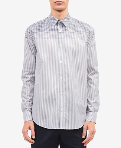 Calvin Klein Men's Engineered Plaid Stripe Shirt