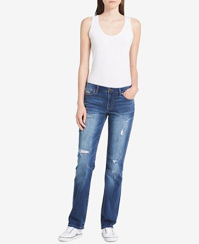 Calvin Klein Jeans Halsey Ripped Straight-Leg Jeans