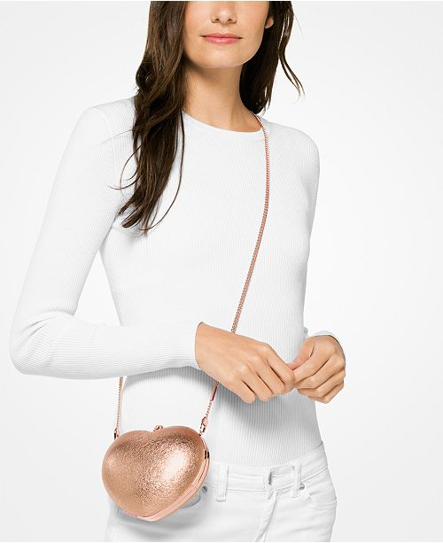 75c940b710d6 Michael Kors Pearlized Small Heart Box Clutch & Reviews - Handbags ...