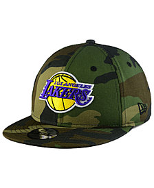 New Era Boys' Los Angeles Lakers Woodland Team 9FIFTY Snapback Cap