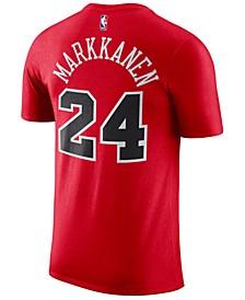 Men's Lauri Markkanen Chicago Bulls Name & Number Player T-Shirt