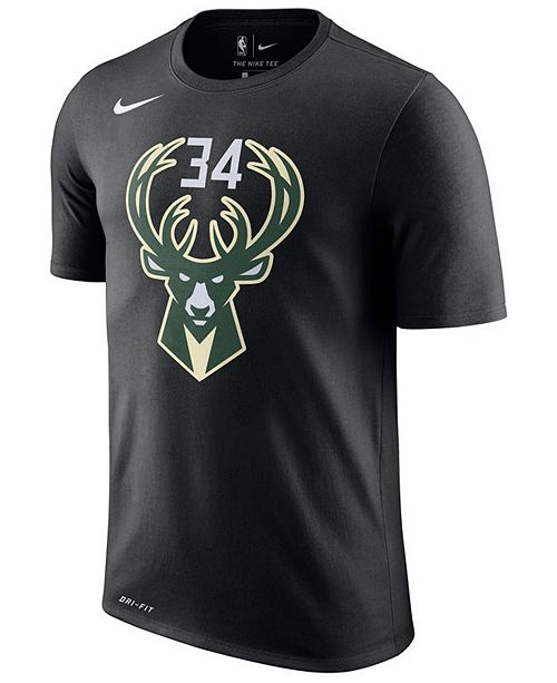 3044acadc6b Nike Men s Giannis Antetokounmpo Milwaukee Bucks Name   Number Player T- Shirt ...