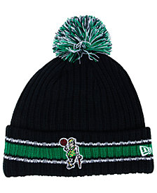 New Era Boston Celtics Basic Chunky Pom Knit Hat