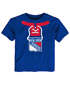 Outerstuff New York Rangers Mock Lace Up T-Shirt, Toddler Boys