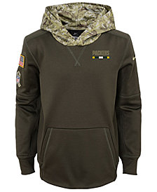 Nike Green Bay Packers Salute To Service Therma Hoodie, Big Boys (8-20)