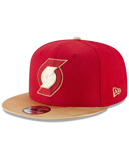 hot sales 90022 37650 New Era. Portland Trail Blazers Triple Gold 9FIFTY Snapback Cap. Be the  first to Write a Review. main image ...
