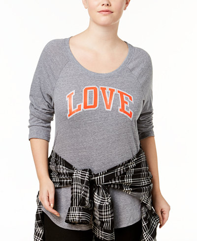 Sub_Urban Riot Plus Size Love Graphic T-Shirt