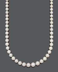 Belle de Mer A+ Cultured Freshwater Pearl Graduated Strand Necklace (8-11-1/2mm) in 14k Gold