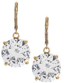 Betsey Johnson Circle Crystal Drop Earrings