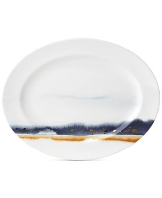 Watercolor Horizons Microwave Safe Platter, Created for Macy's