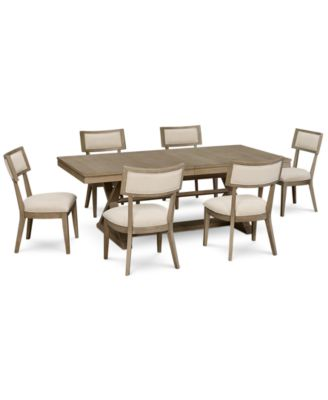 Rachael Ray Highline Expandable Dining Furniture 7-Pc. Set (Trestle Dining Table  sc 1 st  Macy\u0027s & Rachael Ray Highline Expandable Dining Furniture 7-Pc. Set (Trestle ...