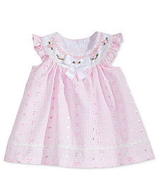 Bonnie Baby Embroidered Eyelet Dress, Baby Girls