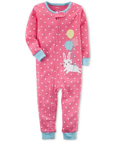 Carter's Dot-Print Bunny Cotton Pajamas, Baby Girls