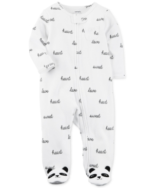Carters Panda Footed Cotton Coverall Baby Girls (024 months)