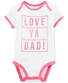Carter's Baby Girls Love Dad Graphic-Print Cotton Bodysuit