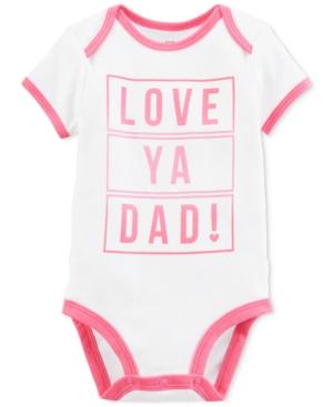 Carters Baby Girls Love Dad GraphicPrint Cotton Bodysuit