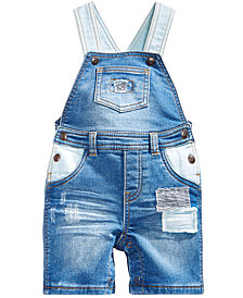First Impressions Rip & Repair Patches Denim Overall, Baby Boys, Created for Macy's
