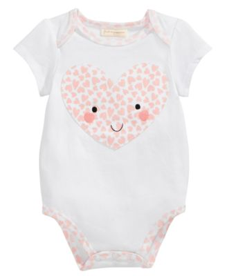 Heart-Print Bodysuit, Baby Girls, Created for Macy's
