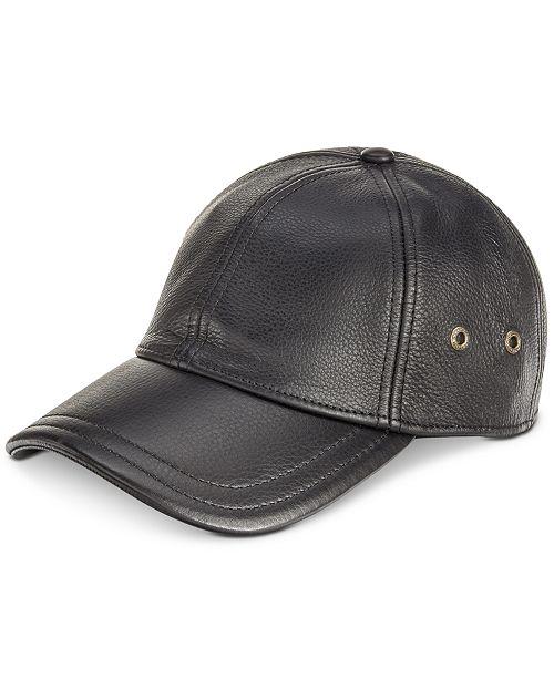 15d014c11bc Dorfman Pacific Stetson Men s Leather Baseball Cap - Hats