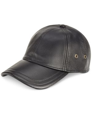 DORFMAN PACIFIC | Stetson Men's Leather Baseball Cap | Goxip