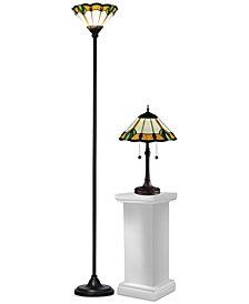 Dale Tiffany Lanarck Tiffany Set of 2 Lamps