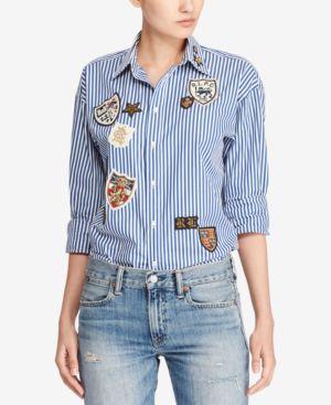 Polo Ralph Lauren Embroidered Poplin Cotton Shirt thumbnail