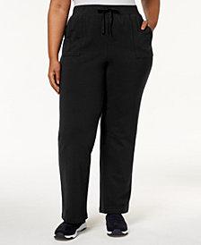 Karen Scott Plus Size Knit Pull-On Pants, Created for Macy's