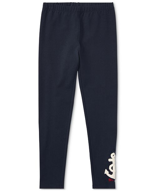 Polo Ralph Lauren Ralph Lauren Embroidered Leggings, Big Girls