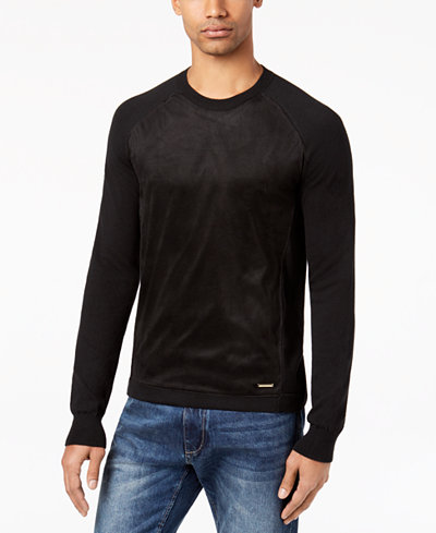 Sean John Men's Faux Suede Pullover, Created for Macy's