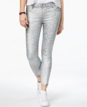 Dl 1961 Florence Metallic-Print Skinny Jeans 5220644