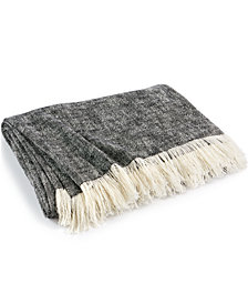 CLOSEOUT! Hotel Collection Global Stripe Throw, Created for Macy's