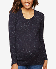 Motherhood Maternity Back Interest Sweater