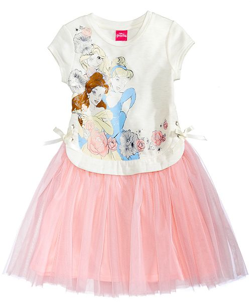 57dd0e410699 Disney Princesses Lace-Up Popover Ballerina Dress