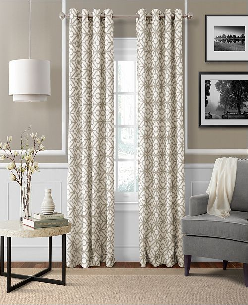 Elrene Crackle Room Darkening Collection - Easy Care Linen Look!