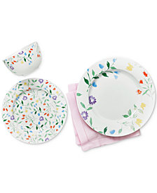 CLOSEOUT! Martha Stewart Collection Floral Dinnerware Collection, Created for Macy's