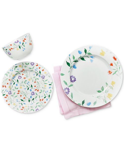 Martha stewart collection floral dinnerware collection created for main image negle Gallery