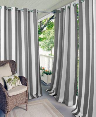"""Aiden Stripe 52"""" x 84"""" Indoor/Outdoor Grommet Panel with 50+ UV Protection"""