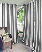 Elrene Aiden Stripe Indoor/Outdoor Grommet Panel Collection with 50+ UV Protection