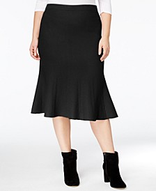 RACHEL Rachel Roy Trendy Plus Size Fit & Flare Skirt