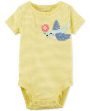 Carters Striped Bird Cotton Bodysuit Baby Girls (024 months)