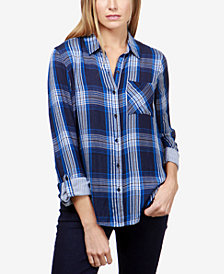 Lucky Brand Plaid Utility Shirt
