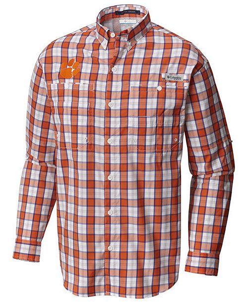 ae37e824093 ... Columbia Men's Clemson Tigers Super Tamiami Long Sleeve Shirt ...