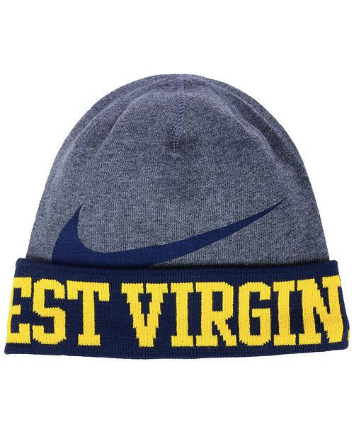 Nike West Virginia Mountaineers Training Beanie Knit Hat - Sports ... f178186f2e1f