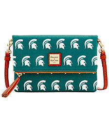 Dooney & Bourke Michigan State Spartans Foldover Crossbody Purse
