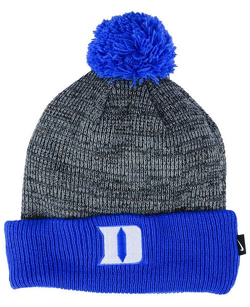 best website cfe12 23ac0 ... where can i buy duke blue devils heather pom knit hat. be the first to