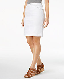 Style & Co Petite 5-Pocket Denim Skirt, Created for Macy's