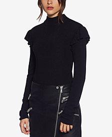 Avec Les Filles Ruffle-Detail Sweater