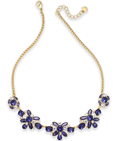 Charter Club Crystal & Stone Collar Necklace, Created for Macy's